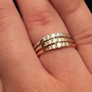 Set of 3 Swarovski rings